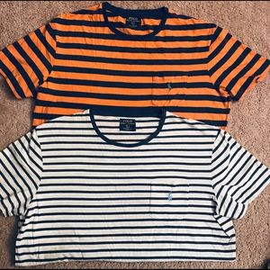 2 men's polo t shirts L